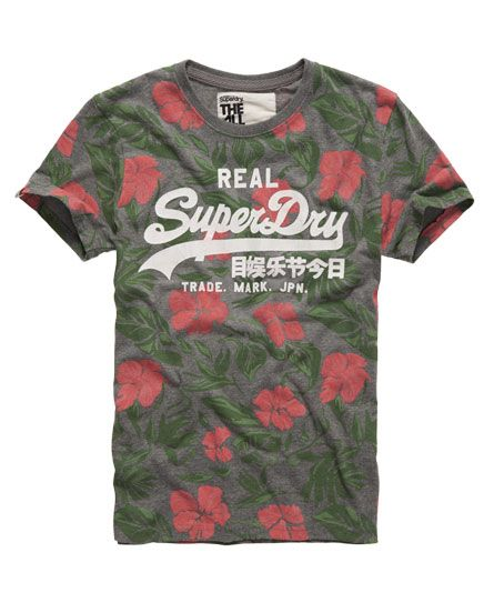 Shop Superdry Mens Floral Forage T-shirt in Dark Grey Marl. Buy now with  free delivery from the Official Superdry Store.