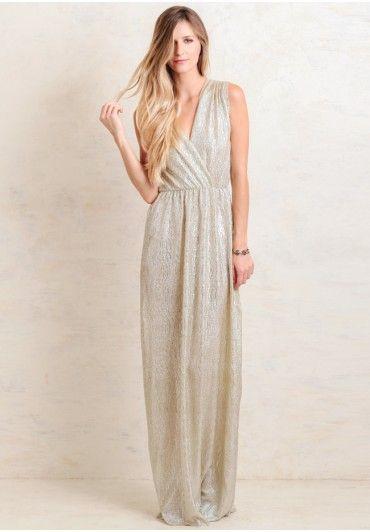 Spark Of Light Metallic Maxi Dress | Modern Vintage Bridal Dresses | Modern Vintage Bridal | Ruche