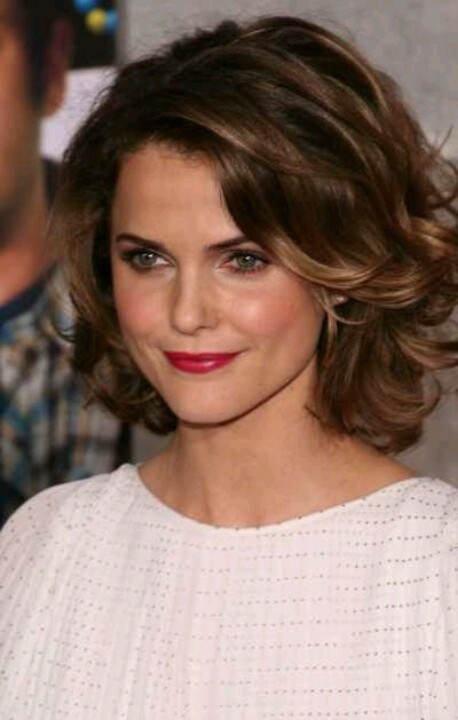 Short, brown hair  -- like this but a little shorter?