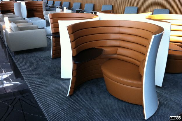 Solus chair designed for Cathay Pacific lounges.
