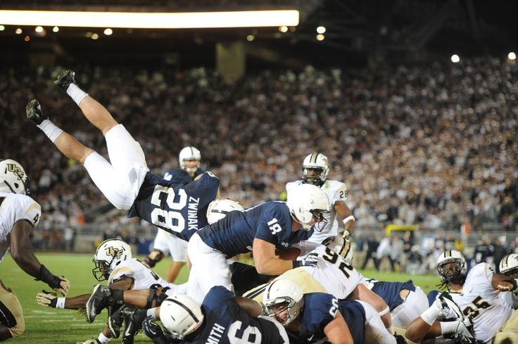 PENN STATE – FOOTBALL 2013 – ZWINAK's front flip landed him on one-yard line, but he scored his third touchdown on next play early in fourth quarter.