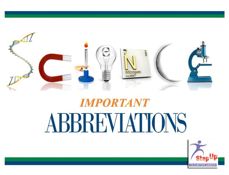 List of SCIENCE ABBREVIATIONS http://bit.ly/1xqUB7E