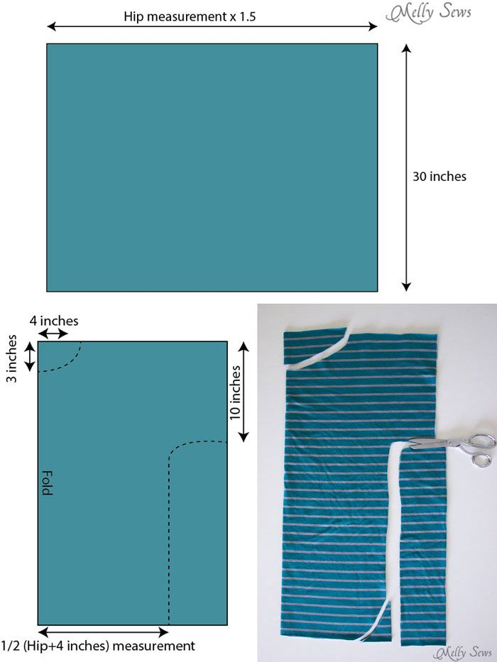 Step 1 - Measuring - 20 Minute Tunic - Sew this top from any kind of knit fabric in about 20 minutes with this EASY how to sew a shirt tutorial from Melly Sews
