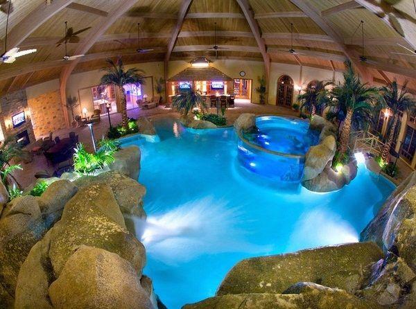 1000 id es sur le th me piscine grotte sur pinterest for Construire une piscine couverte