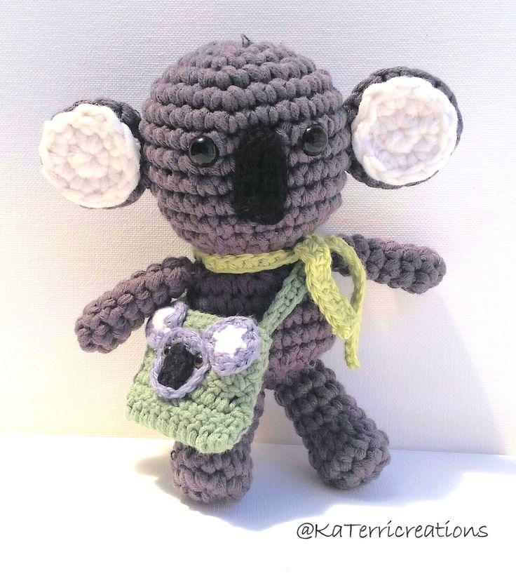 KaTerri Creations, Chunky Koala with Satchel, 19cm, $20