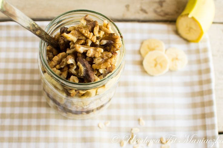 Nocna owsianka, czyli bananowo kakaowe śniadanie w minutę! :)