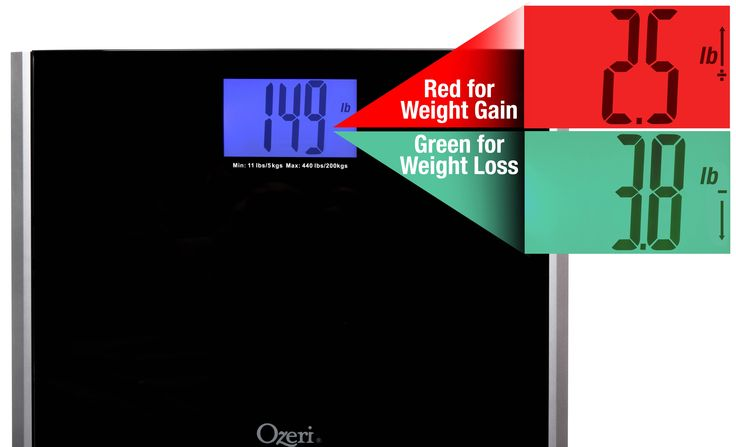 David Shaw Silverware NA LTD Ozeri Precision Pro II Digital Bath Scale (440 lbs Capacity) with Weight Change Detection Technology, Black