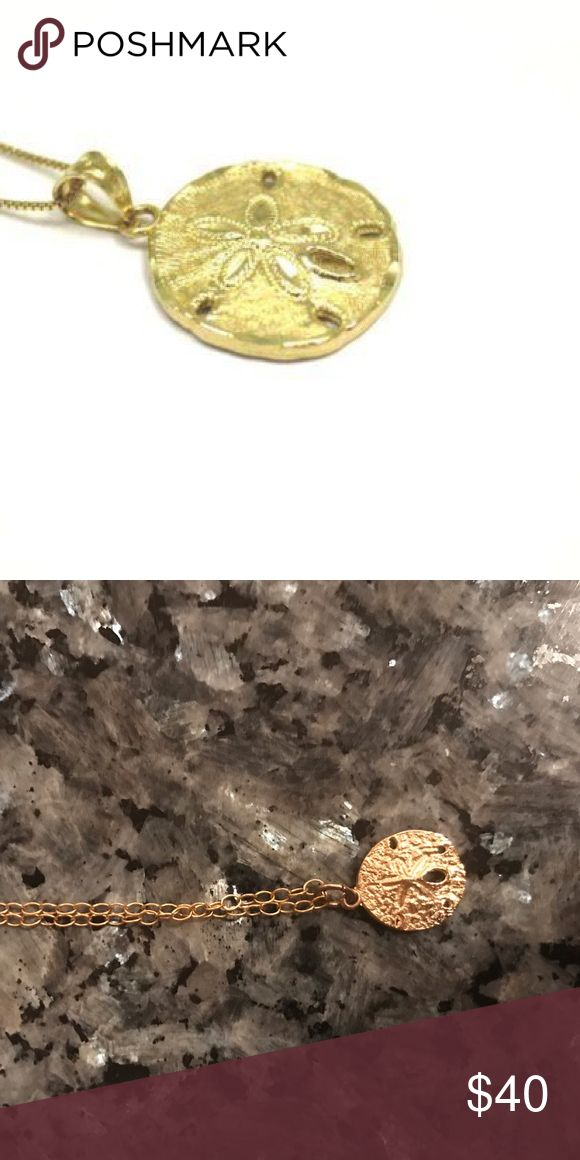 """14K Gold Sand Dollar Pendant Necklace 14K Gold Sand Dollar Pendant Necklace. 16"""" chain 🌟 Offers accepted! 🌟 Bundles accepted! 🌟 15% off 2+ items ❌ trades ❌ PayPal Jewelry Necklaces"""