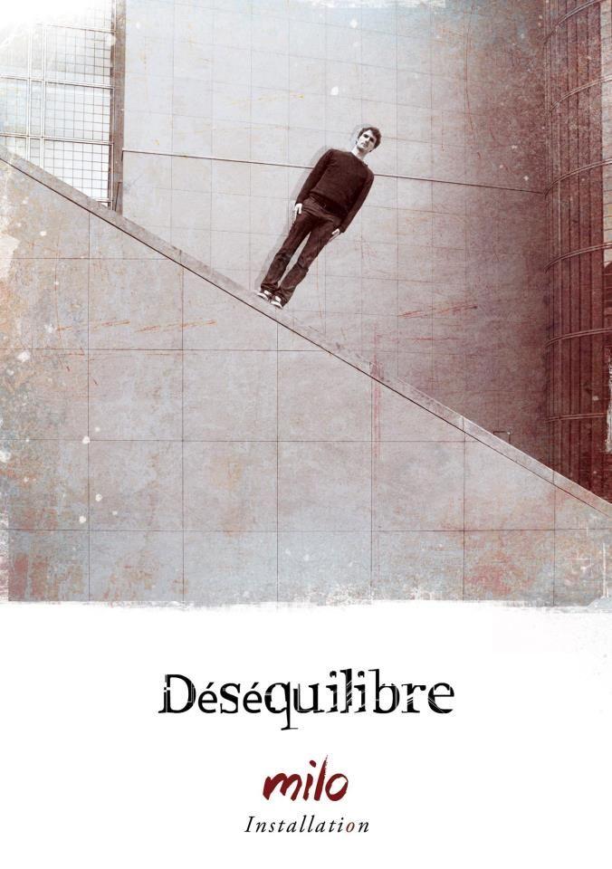 """""""Déséquilibre"""", Poster for the street artist exhibition"""