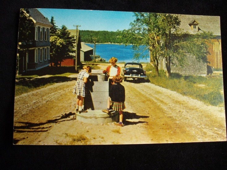 VIEW OF SHELBURNE NOVA SCOTIA CANADA OLD TIME COMMUNITY...