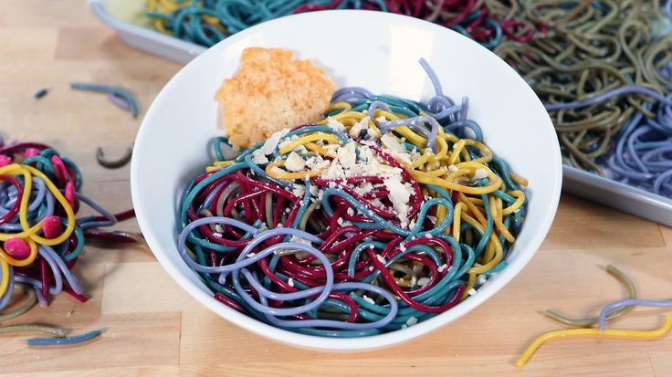 You're Going to Love This All-Natural Rainbow Pasta: You might have seen those neon-colored rainbow pastas on Pinterest, but they use a lot of food coloring and artificial dyes, so we thought we'd make one that's just as colorful using all-natural ingredients.