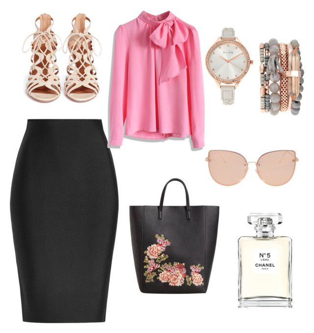 """""""Untitled #1"""" by rebeccaodil on Polyvore featuring Roland Mouret, Chicwish, Aquazzura, MANGO, Topshop, Chanel and Jessica Carlyle"""