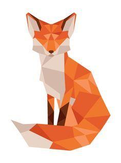 Low poly animal - Fox