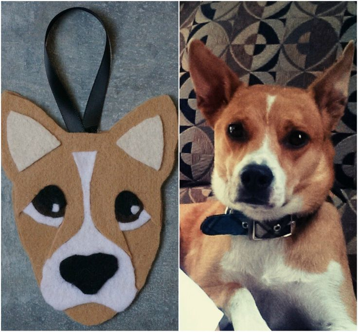 Custom Felt Dog Holiday Ornament - Large by DashAndTheOrangeBus on Etsy https://www.etsy.com/listing/491384159/custom-felt-dog-holiday-ornament-large