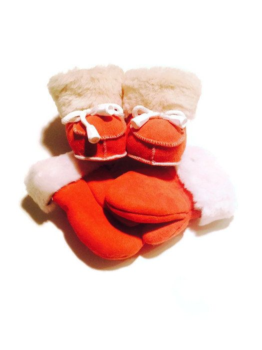 FREE SHIPPING Baby Genuine Sheepskin Mittens by TrixiCookies