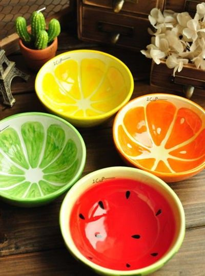 creative home japanese painted hand painted ceramic fruit bowl rice bowl small bowl cute couple - Pottery Design Ideas