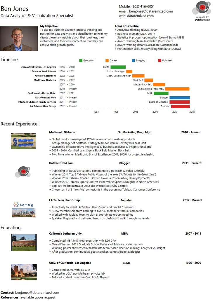 ben jones infographic resume built in tableau public