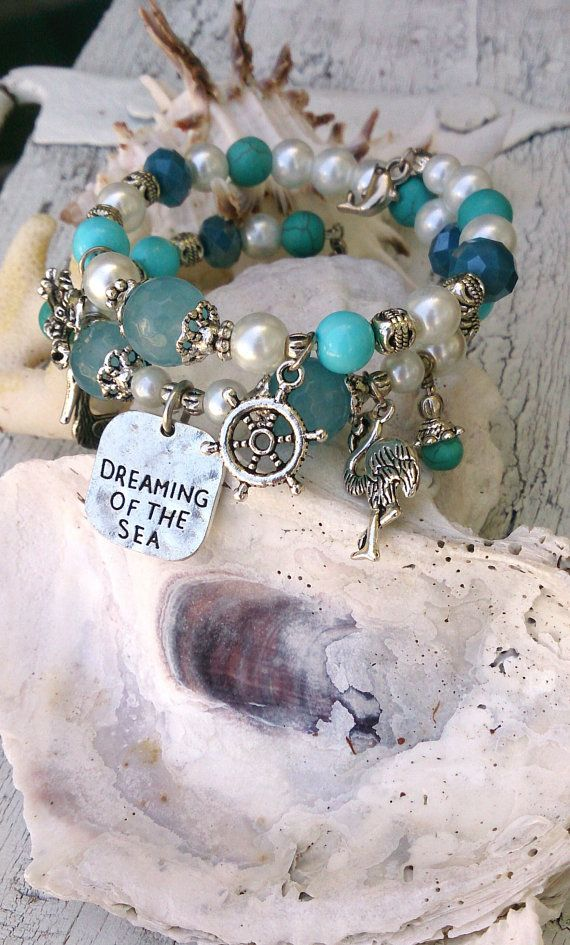 Beach Wrap Bracelet Dreaming Of The Sea by SecretStashBoutique