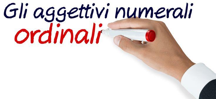 Gli aggettivi numerali ordinali