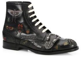 Gucci Queercore Insects Leather Boots #men #fashion #style #man #male #shoes #clothes