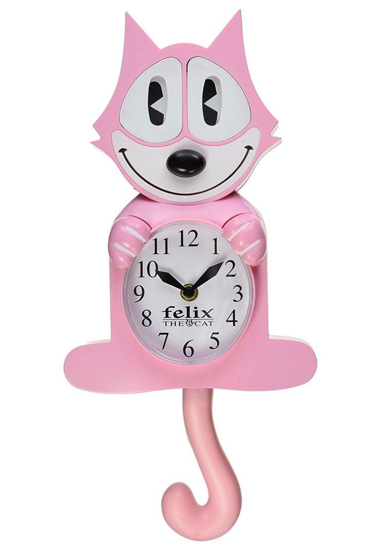 Felix the Cat, a Pink Wall Clock ....