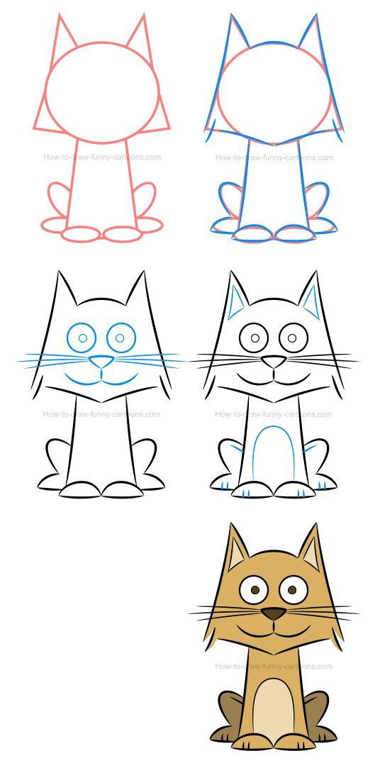 How to draw a cat and play with colors and patterns to create new characters.