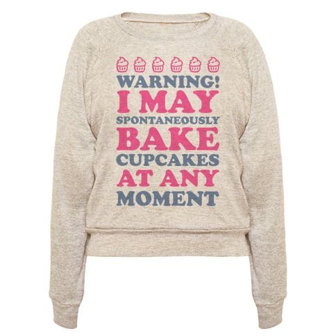 This baking shirt is great for all those happy bakers who love cookies and cupcakes and just gotta say, warning I may spontaneously bake cupcakes at any moment. This baking gift is perfect for fans of cupcake decor, baking quotes and baking jokes.
