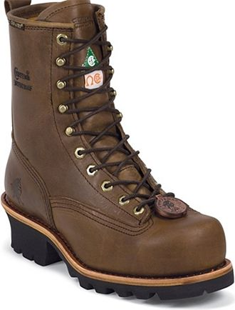 "Men's Chippewa Boots 8"" Steel Toe WP Logger Work Boot 73101"
