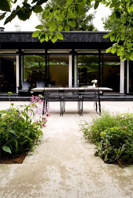 A black summer house