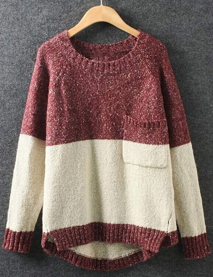 Love this !!! Yes please!! The sweater featuring contrast color and a lovely front pocket is so cute. I can't wait to try on this one! Find it out at Cupshe.com !