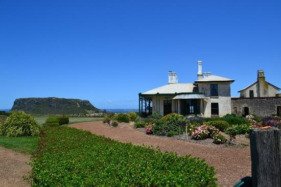 Highfield Historic Site: Highfield House and view of The Nut Stanley, Tasmania #Australia