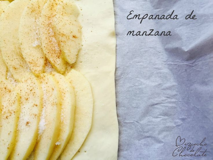 Bizcocho de Chocolate: Empanada de manzana