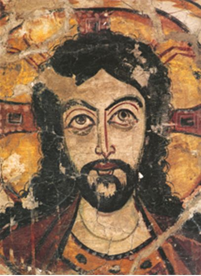 coptic monastery of saint apollo | Part of the mural at the Monastery of Saint Apollo showing Christ ...