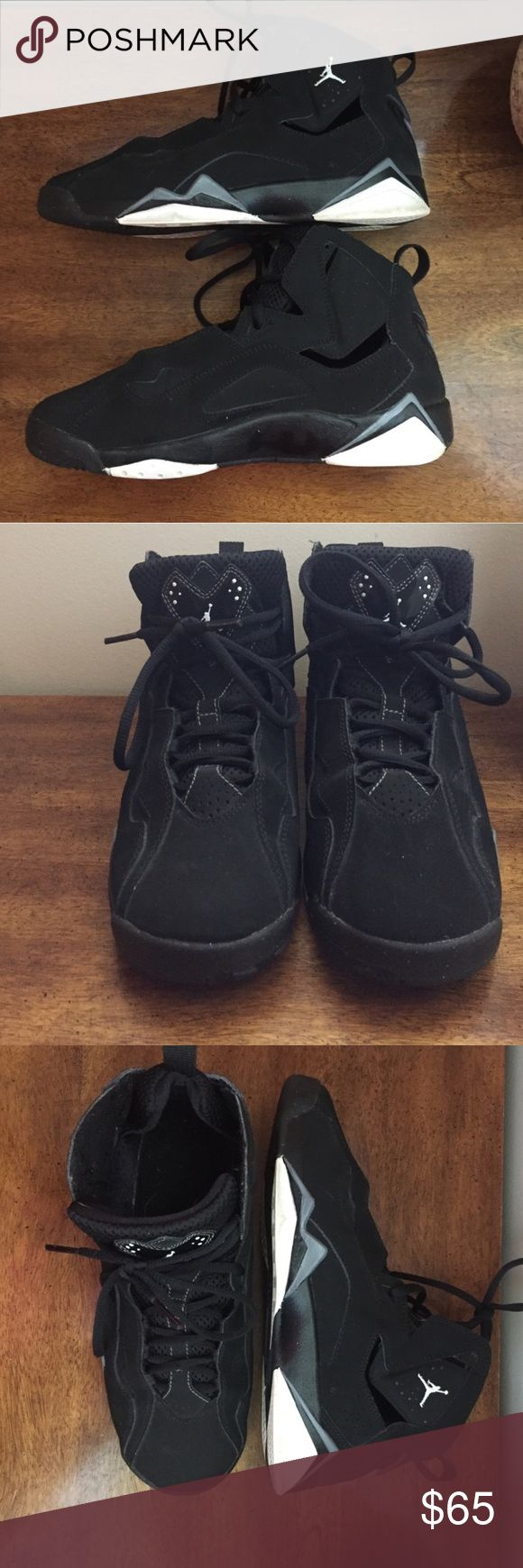 Nike Jordan True Flight Black White Black gray Nike Jordan True Flight Black White Black Cool Grey Youth Size 5 Jordan Shoes Athletic Shoes