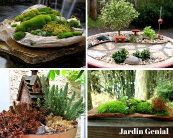 Jardin Génial – Google+ Мини-сад - оригинальное украшение  Вашего участка  Живописный ландшафт в миниатюре  или сад в горшке способен стать  эффектным украшением не только  балкона или террасы, но любого уголка в саду.   #JardinGenial #ландшафтный_дизайн  #Озеленение #Освещение #Полив #Постройки_на_участке