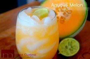 Agua de Melon (Cantaloupe Refresher)