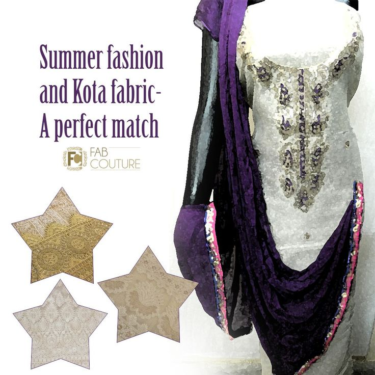 Summer fashion and Kota fabric a perfect match only  at Fab Couture.   Grab your fabric at  https://fabcouture.in  #FabCouture! #DesignerFabric at #AffordablePrices #DesignerDresses #Fabric #Fashion #DesignerWear #ModernWomen #DesiLook #Embroidered #WeddingFashion #EthnicAttire #WesternLook #affordablefashion #GreatDesignsStartwithGreatFabrics #LightnBrightColors #StandApartfromtheCrowd #EmbroideredFabrics