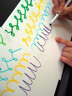 Integrate Fun: Cursive Writing and Art (Love this idea! I think that's why i love writing in cursive so much-- it's like ART!)