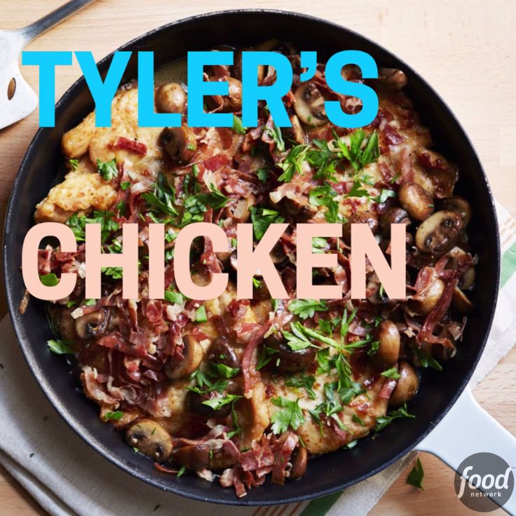 Tyler's take on Chicken Marsala proves that a dish can be elegant AND easy. Season with salt and pepper and garnish with chopped parsley!