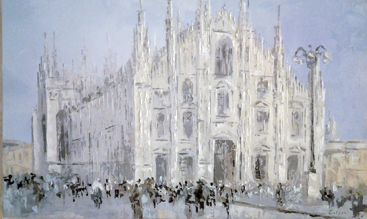 The Duomo, Oil on Canvas, original painting  $150 (in euro)  30 cm x 50 cm