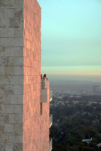 The Getty Museum, Balcony.  perfect place to look over the city and steal a kiss...