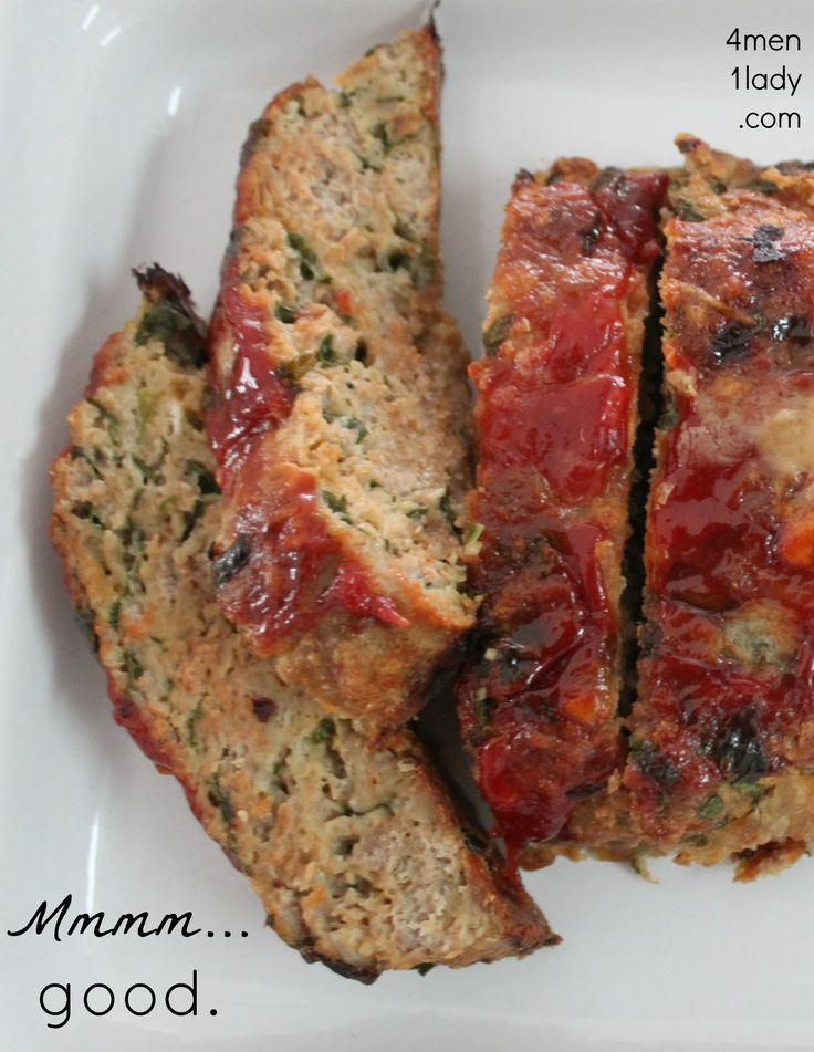 Easy turkey meatloaf. Used Italian bread crumbs, garlic, and egg whites.