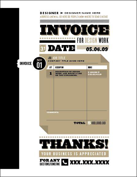 17 best Invoice books images on Pinterest Invoice design, Brand