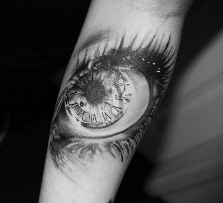 49 best tattoos images on pinterest tattoo designs for Eye with clock tattoo