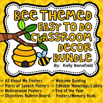 Classroom Decor Bee Themed Bundle