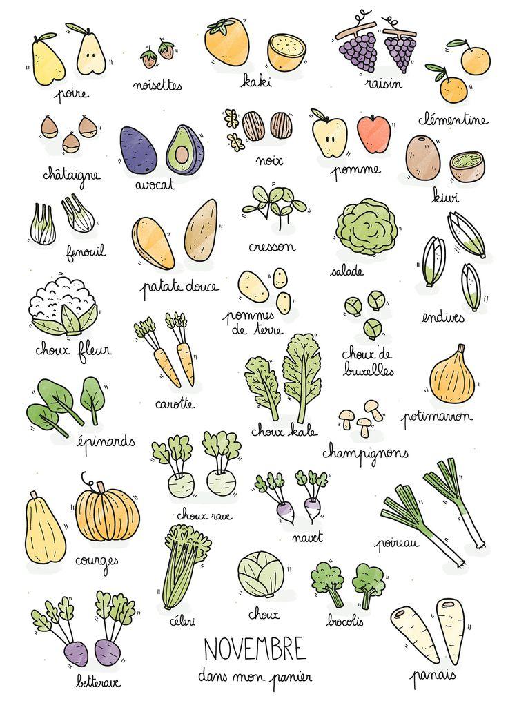 Fruits & légumes de saison – Novembre