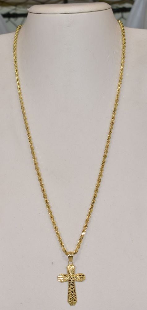 14K Yellow Gold 16 Sixteen Pendant on an Adjustable 14K Yellow Gold Chain Necklace