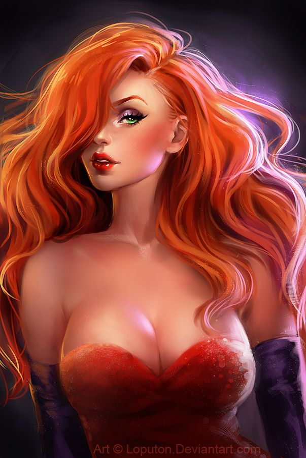 Jessica Rabbit by Loputon.deviantart.com on @deviantART