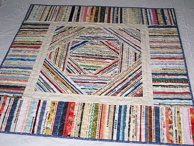 Great selvage quilt. I'm saving my selvages so one day I will make one too!