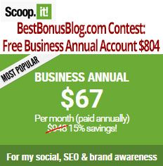 """""""Win A Year's Worth Of Scoop.it!Take Your Traffic Generation & Social Influence To New Heights!"""""""